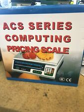 Digital Food Scale Acs C Electronic Computing Up To 60 Lbs Withprice Calculator