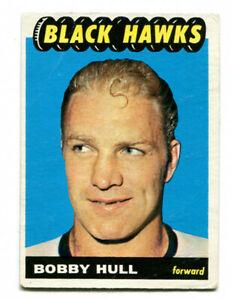 1965/66 Topps Bobby Hull Card #59 Chicago Black Hawks