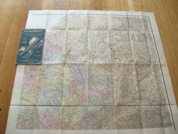 Alte Landkarte Hand Und Reisekarte Deutschland Österreich Um 1910 Gesundheit Effektiv StäRken