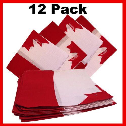 "22/"" x 22/"" Canadian Flag Bandanas 12 Pack"