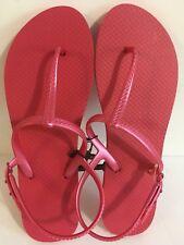 49fadbb51403a0 item 2 Womens Flip Flops Thong Sandals Pink Rubber Adjustable Heel Strap Size  XL 11-12 -Womens Flip Flops Thong Sandals Pink Rubber Adjustable Heel Strap  ...