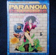 Lote 1990 Gamma-Módulo Paranoia aventura West End Games 12021 de juego de rol RPG