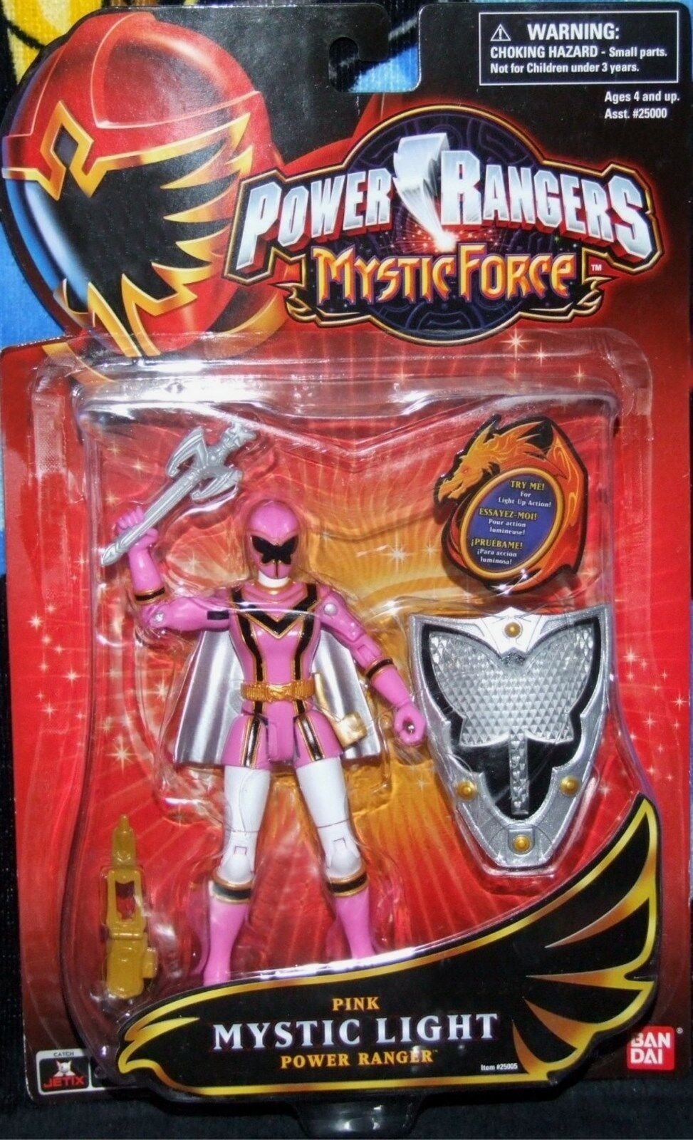 Power Rangers Mystic Force 5  Pink Mystic Light Ranger New Factory Sealed 2006