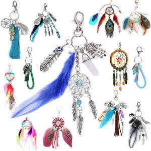 Dream-Catcher-Feather-Tassel-Keyring-Key-Chain-Ring-Keychain-Bag-Charm-Pendant