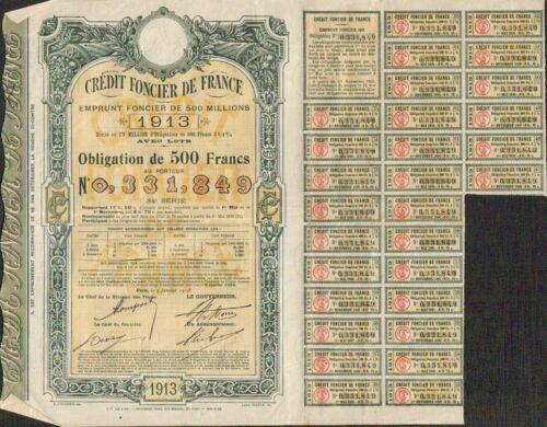 U Emprunt CRÉDIT FONCIER de FRANCE 1913