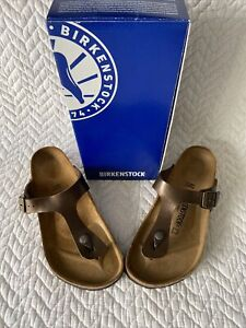 Birkenstock Gizeh 845221 42 R Graceful Toffee BRAND NEW In Box Arch Comfort $75