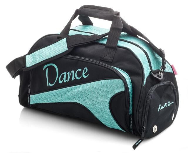 9a04fc54d36 Medium Large Sparkly Turquoise Dance Ballet Tap Kit Holdall Sports Bag KB76  Katz