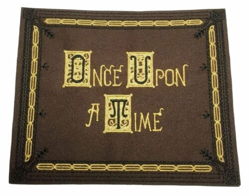 "Once Upon A Time Story Book Cover 5/"" Wide Embroidered Iron On//Sewn On Patch"
