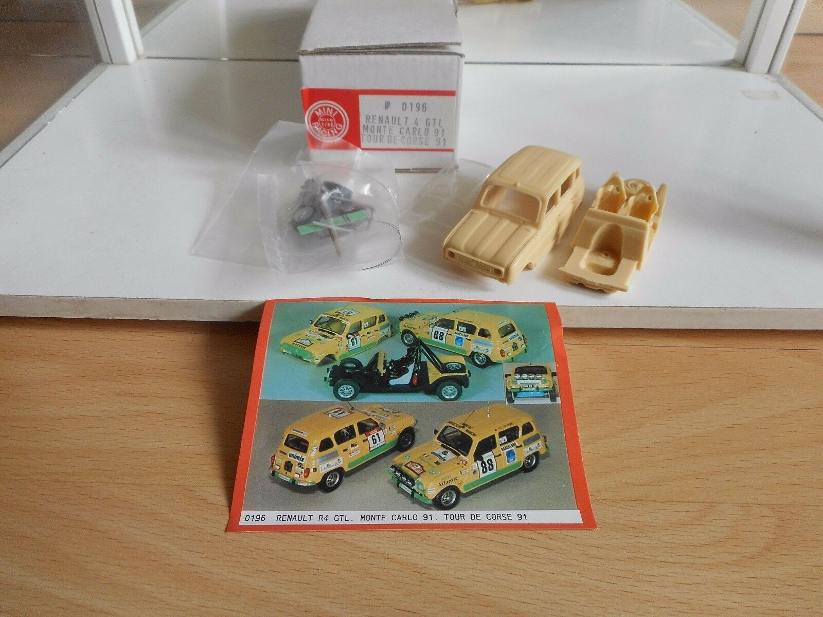 Model Resin Kit Mini Racing Renault 4 GTL Monte Carlo '91 on 1 43 in Box
