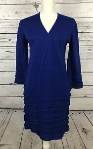 Verve-Ami-Women-039-s-Small-Sapphire-Blue-Long-Sleeved-Cardigan