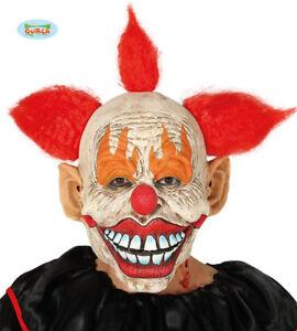 Maschera It Pagliaccio.Maschera Clown Scary Carnevale Adulto Halloween In Lattice Pagliaccio It Capelli Ebay