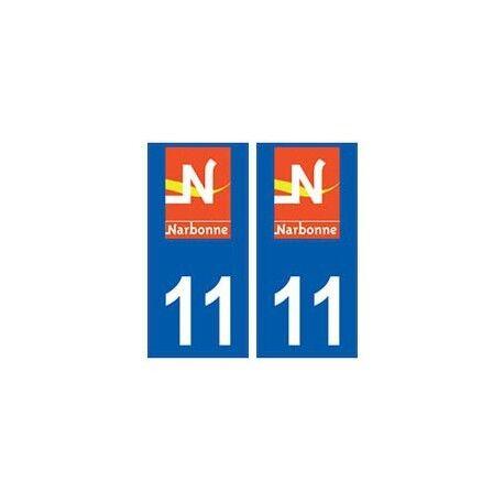 11 Narbonne logo ville autocollant plaque droits