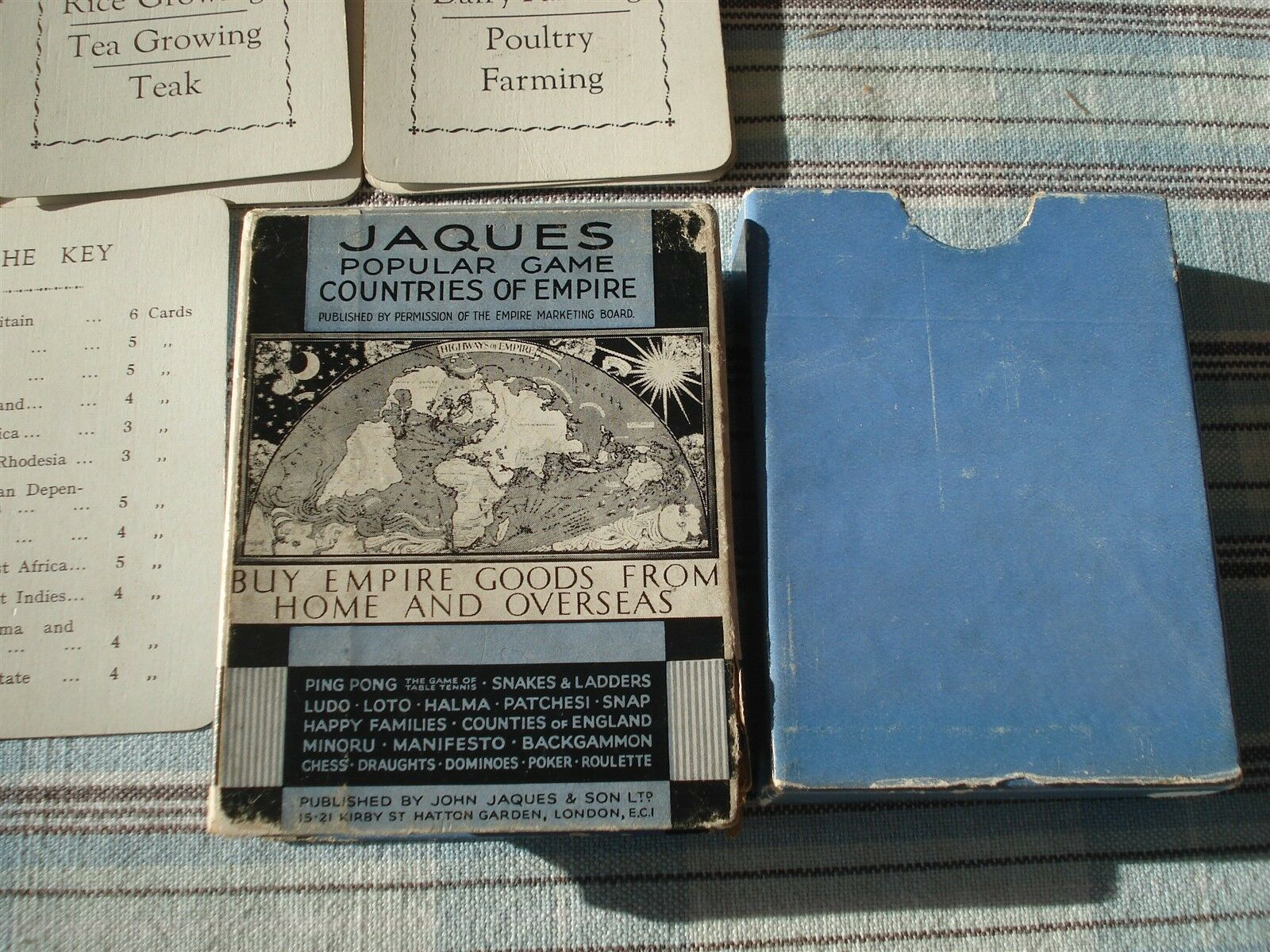 COUNTRIES OF EMPIRE GAME - JOHN JAQUES - 100% - 1930 - RARE - EMPIRE TRADING