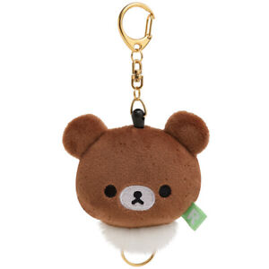 Rilakkuma-San-X-New-Plush-Reel-Key-Holder-chairoi-koguma-Kawai-Japan-F-S