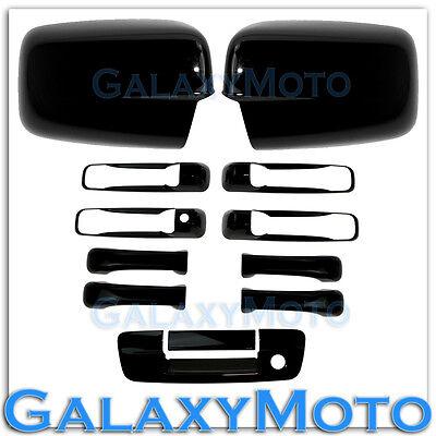 07-13 GMC Sierra Gloss Black Full Mirror+4 Door Handle+Tailgate w.KH no CM Cover