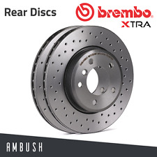 Brembo Xtra Rear Solid High Carbon Drilled Brake Disc Pair Discs x2 08.7627.1X