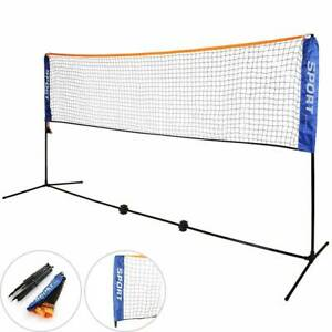 5M-Portable-Badminton-Volleyball-Tennis-Net-Set-with-Stand-Frame-Carry-Bag-UK