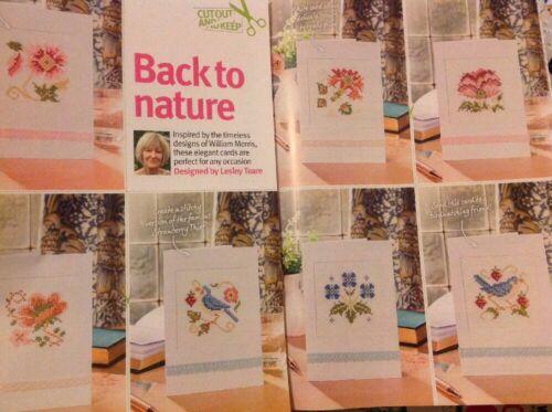 U William Morris Flower Bird Cards Cross Stitch Chart