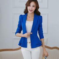 Colorful Women Fashion Casual Business Blazer One Button Slim Suit Jacket Coat