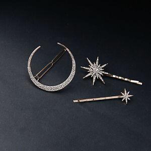3Pcs-set-Rhinestone-Moon-Star-Hair-Clips-Vintage-Hair-Pin-Hair-Accessories