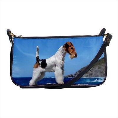 Dog Wire Fox Terrier Shoulder Clutch Handbag /& Mini Coin Purse
