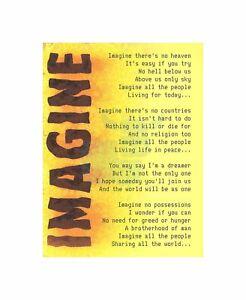 Image Is Loading Imagine Music John Lennon Lyrics Motivation Typography Quote