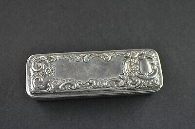 Antike Tabattiere,sterling Silver, England, Chester Gemarkt 1898 PüNktliches Timing
