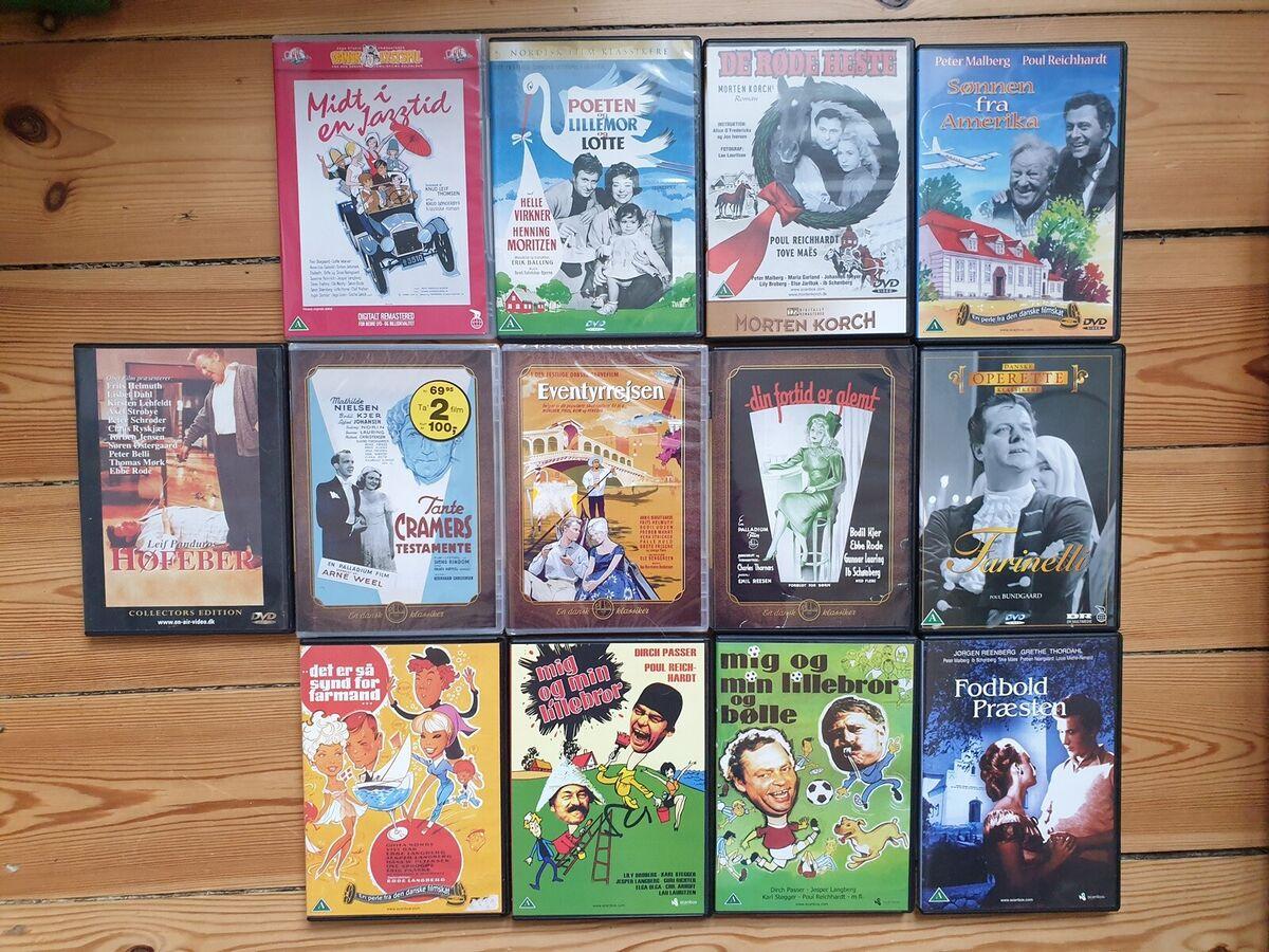 Gamle danske film (20-50kr), DVD, - dba.dk - Køb og Salg