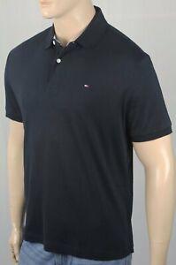 Tommy-Hilfiger-Black-Custom-Fit-Polo-Interlock-Shirt-NWT