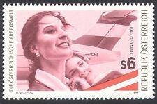 Austria 1994 mondo del lavoro/piano/Air Hostess/lavoratori/Persone/trasporto 1v n40672