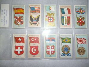Cigarette-Cards-1905-John-Player-Countries-Arms-amp-Flags-Full-Set-of-50