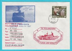PréCis Norvège Helikopterpost Année 12.6.1987 Cachet Spécial Fs étoile Polaire-afficher Le Titre D'origine PréParer L'Ensemble Du SystèMe Et Le Renforcer