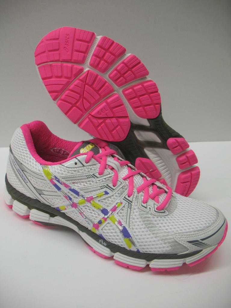Asics T2K7N GT-2000 Running Training Racing Shoes Sneakers White Rainbow Womens Comfortable and good-looking