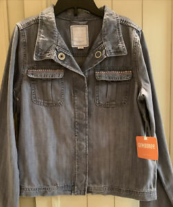Gymboree Girls Blue Denim Jean Jacket Size Large 10-12 Snap Button NEW NWT 💕