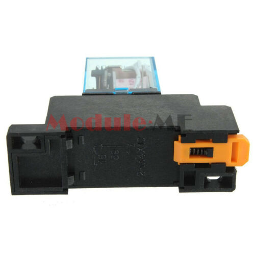 New 12V DC Coil Power Relay LY2NJ DPDT 8 Pin HH62P JQX-13F With Socket Base UK
