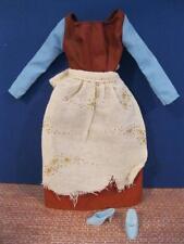 Barbie doll PRINCESS Cinderella Clothes RAGS Dress/Apron 1991 Shoes Disney set