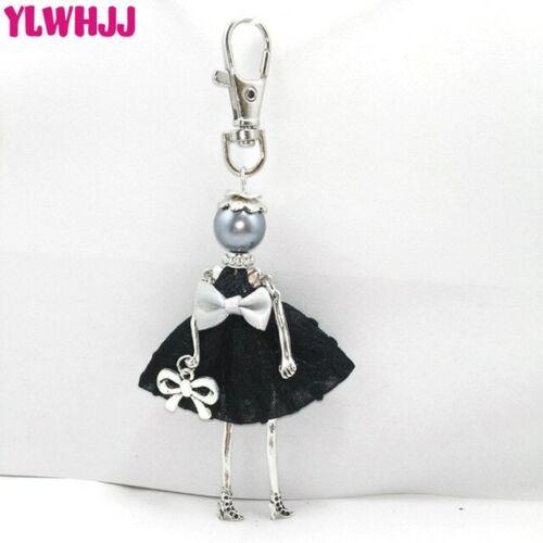 Handmade Keychain Fashion Dolls Ladies Trinket Key Fob Fashionista Artisan Doll