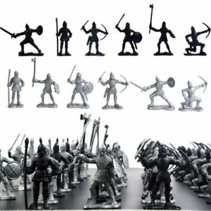 60PCS-Medieval-Knights-Warriors-Soldiers-Figure-Model-Toy-Playset-Kids-Xmas-Gift
