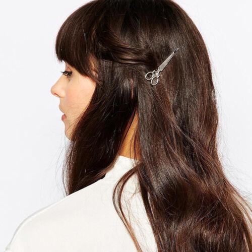 Lot 2Pcs Scissors Shape Metal Hair Clip Women Hair Accessory Gold//Silver