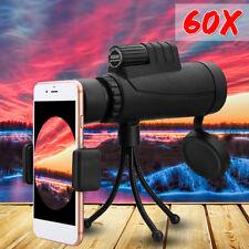 40x60 Zoom Monocular HD Telescope Telephoto Camera Lens +  Phone Holder + Tripod