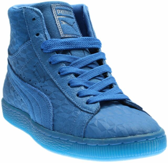 Puma Suede Mid Me Iced Sneakers Casual    - Blue - Mens