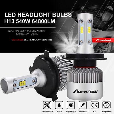 Cree H4 9003 HB2 540W 64800LM High Low Beam LED Headlight Kit Bulbs 6000K White