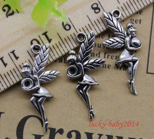 20//60//100pcs retro Jewelry Making DIY Fairies alloy charms pendant 25x13mm