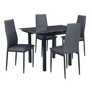 Dettagli su MALTA - Set con tavolo e 4 sedie per cucina o sala da pranzo