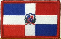 Republica Dominicana Flag Patch With Velcro® Brand Fastener Military Emblem 24
