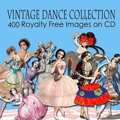Vintage Danza Ballet imágenes tarjetas Toppers Decoupage Artesanales En Cd