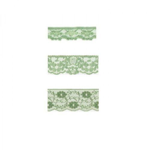 55mm 35mm Nylon Lace Pale Green 2m x 11mm