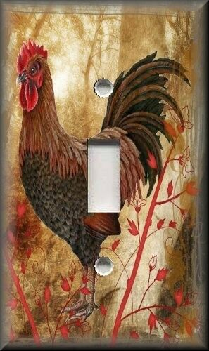Light Switch Plate Cover - Country Rooster - Kitchen Decor - Home Decor