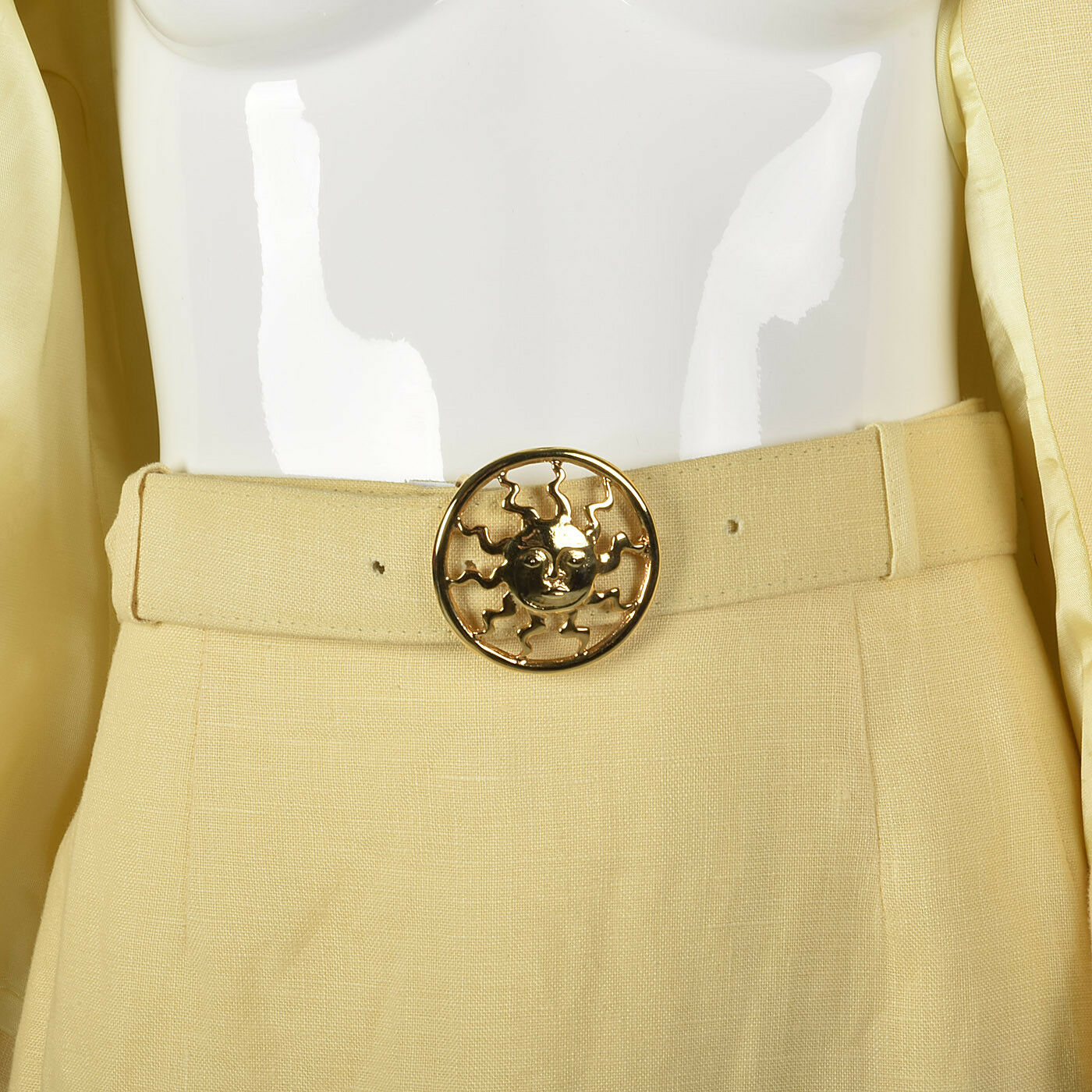 M 1990s Moschino Cheap & Chic Yellow Linen Suit S… - image 8