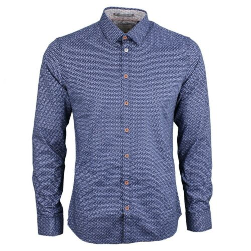 Bianco No Blu Excess Minimal Tempo Uomo Camicia 078 Libero Motivo 90430161 SFqYSf